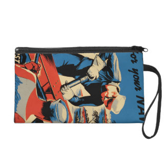 Build for your Navy! Wristlet Purse
