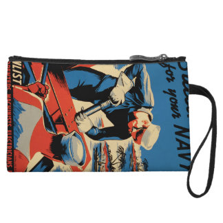 Build for your Navy! Wristlet Wallet