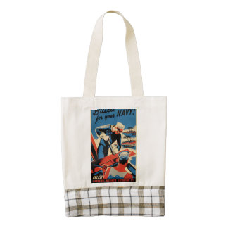 Build for your Navy! Zazzle HEART Tote Bag