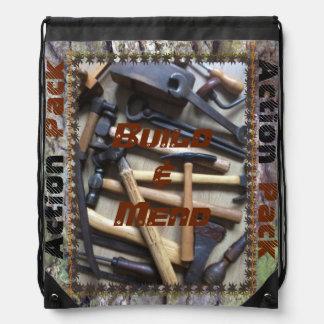 Build & Mend :Action Pack Drawstring School Bag Drawstring Bags