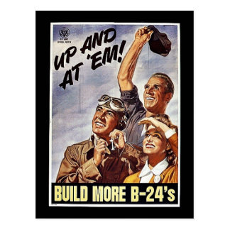 Build More B-24's Postcard