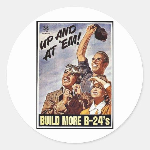 Build More B-24's Sticker