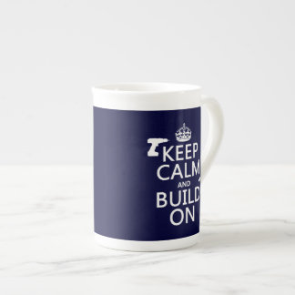 build-on pngKeep Calm and Build On any background Porcelain Mugs
