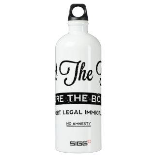 Build The Fence Aluminum Water Bottle