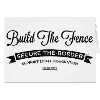 Build The Fence Card