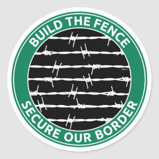 Build The Fence Classic Round Sticker