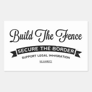 Build The Fence Rectangular Sticker