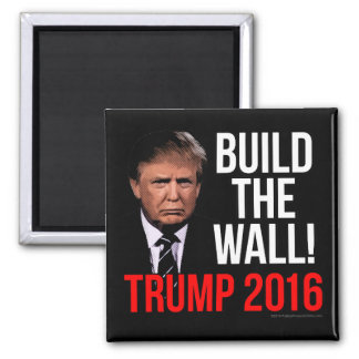 Build the Wall Donald Trump 2016 Magnet