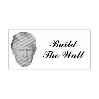 BUILD THE WALL SELF-INKING STAMP