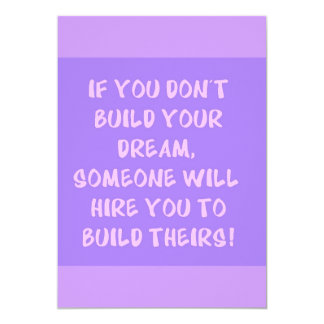 Build Your Dream Advice truisms comments Card