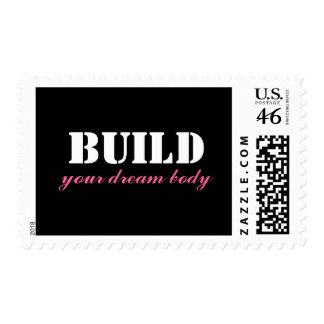 Build Your Dream Body Customized Postage Stamps