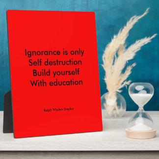 Build yourself plaque