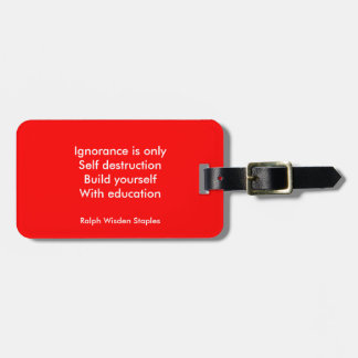 Build yourself with Education Bag Tag