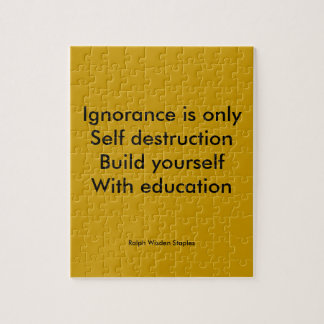 Build yourself with education puzzle