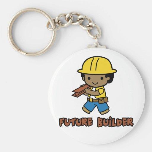 Builder Basic Round Button Keychain