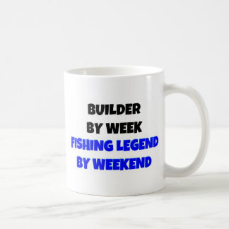 Builder by Week Fishing Legend By Weekend Classic White Coffee Mug