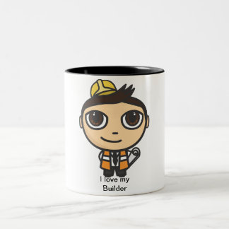 Builder Cartoon Character I love my Builder Mug