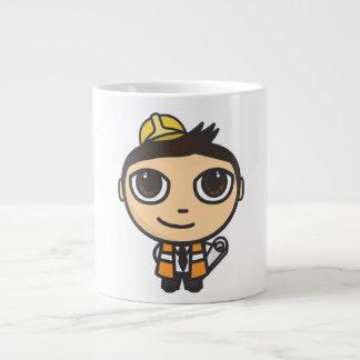 Builder Cartoon Character  Jumbo Mug
