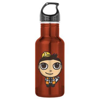 Builder Cartoon Character Liberty Stainless Steel Water Bottle