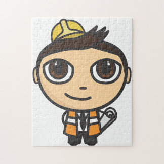 Builder Cartoon Character Puzzle/Jigsaw
