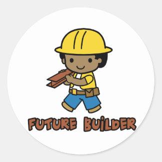 Builder Classic Round Sticker