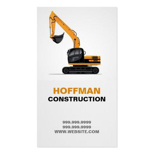 Builder Manager Construction Excavators Business Card Template