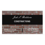 Builder Modern Simple Brick Wall Construction Double-Sided Standard Business Cards (Pack Of 100)