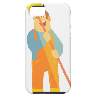 Builder With Painting Roll On Construction Site iPhone SE/5/5s Case