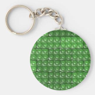 Builder's Bricks - Green Keychain