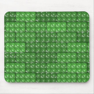 Builder's Bricks - Green Mouse Pad