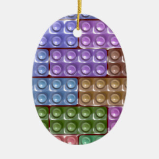 Builder's Bricks - Pastel Ceramic Ornament
