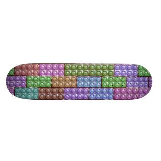Builder's Bricks - Pastel Skateboard Deck
