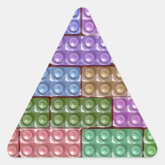Builder's Bricks - Pastel Triangle Sticker