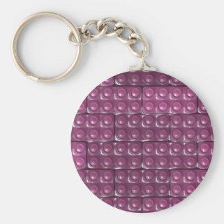 Builder's Bricks - Pink Keychain