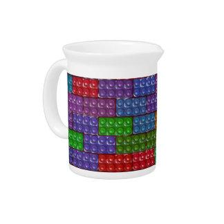 Builder's Bricks - Rainbow Beverage Pitcher