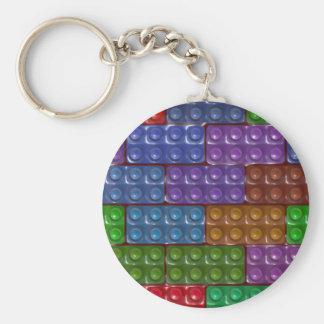 Builder's Bricks - Rainbow Keychain