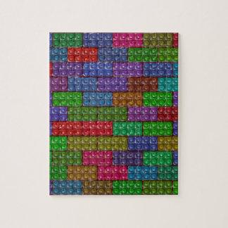 Builder's Bricks - Rainbow Puzzle