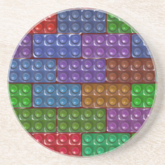 Builder's Bricks - Rainbow Sandstone Coaster