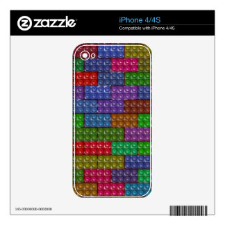 Builder's Bricks - Rainbow Skins For The iPhone 4
