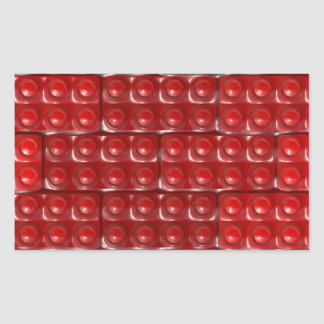 Builder's Bricks - Red Rectangle Stickers