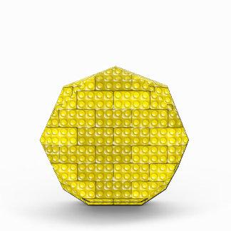 Builder's Bricks - Yellow Acrylic Award