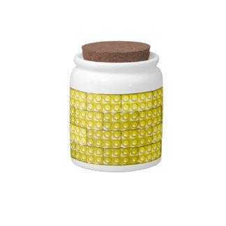 Builder's Bricks - Yellow Candy Jar