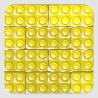 Builder's Bricks - Yellow Square Sticker