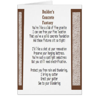 Builder's Concrete Fantasy Card