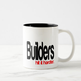 Builders Hit It Harder Two-Tone Coffee Mug