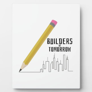 Builders of Tomorrow Display Plaque