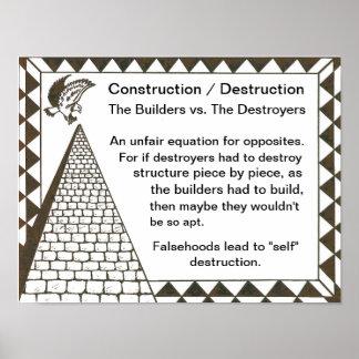 Builders vs. Destroyers Print