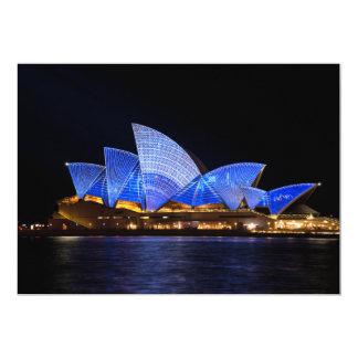 """buildi de Australia del teatro de la ópera de Invitación 5"""" X 7"""""""