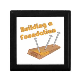 Building A Foundation Trinket Boxes