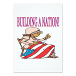 "Building A Nation 5"" X 7"" Invitation Card"